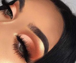 art, eyebrows, and eyeliner image
