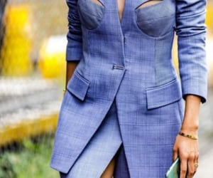 blue, chic, and stylé image