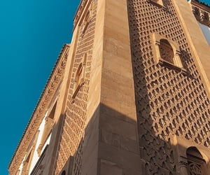 blue sky, morocco, and travel image