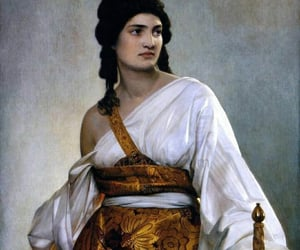 gold, painting, and woman image