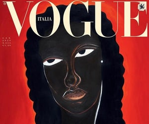 black woman, vogue, and wallpaper image