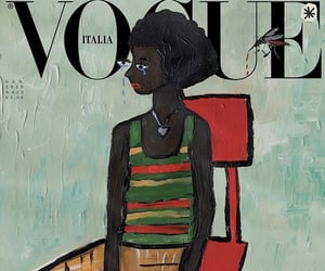black woman, vogue, and vogue italia image
