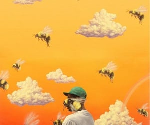 tyler the creator, flower boy, and bee image