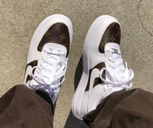 AF1, brown, and custom image