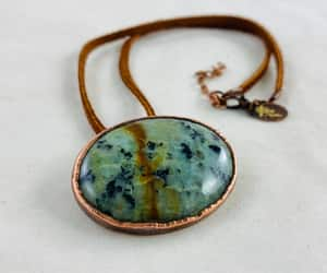 choker, boho jewelry, and copper necklace image