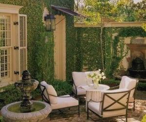 backyard, garden, and green image