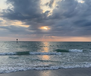 aesthetic, beach, and clouds image
