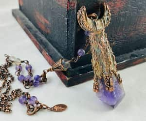 etsy, wiccan jewelry, and moon necklace image