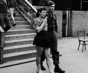 cigarette, girl, and soldier image