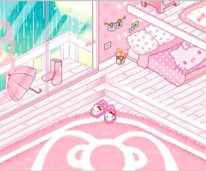 gif, pink, and sanrio image
