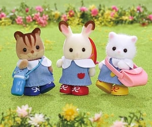 bunny, calico critters, and kidcore image