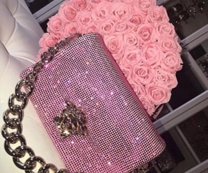 glitter, pink, and rose aesthetic image