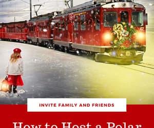 christmas, polar express, and family movie night image