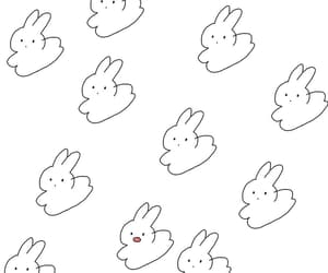 background, black, and rabbit image