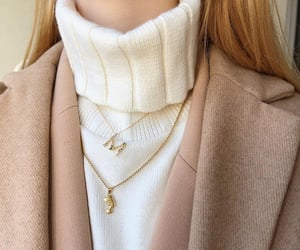beige, jewelry, and minimal image
