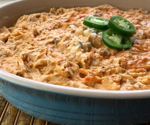healthy food recipes and spicy buffalo chicken dip image