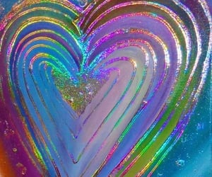 colorful, heart, and neon image