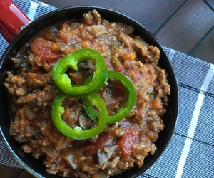 healthy food recipes and beef and mushroom chili image