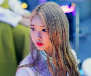 blonde hair, icon, and yeojin image