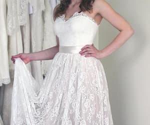 belt, sweetheart, and a line wedding dress image