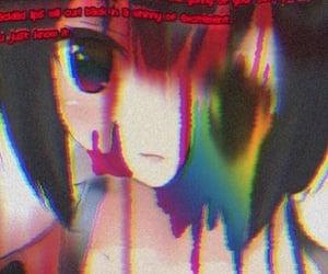 glitch, rainbowcore, and animecore image