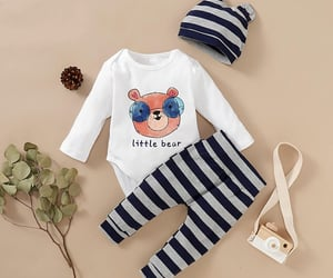baby clothes, fashion, and cute image