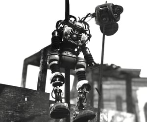 black and white, dystopian, and machine image