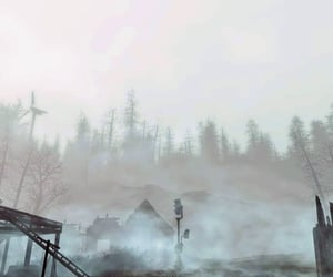 eerie, fog, and fallout image