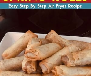 spring rolls, air fryer recipes, and air fryer image