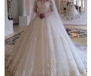 lace wedding dress, cheap bridal dresses, and wedding ball gown image