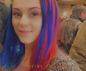 beautifulgirl, bluehair, and redhair image
