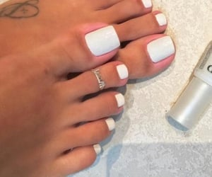feet, white toes, and nails image