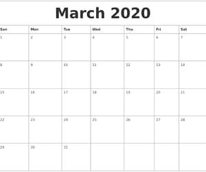 article, yearly calendar, and calendar2020 image