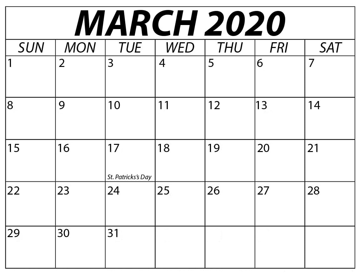 article, march2020template, and blank2020calendar image