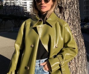 fashion, jeans, and trench-coat image