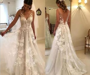 wedding gowns, wedding dresses for bride, and cheap bridal dress image