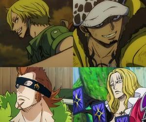 anime, Law, and sanji image