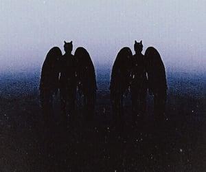 angel, wings, and dark image