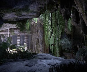 cavern, stone, and Temple image