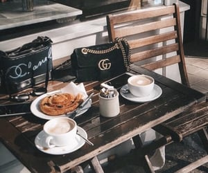 bag, breakfast, and cafe image