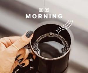 black, clock, and coffee image