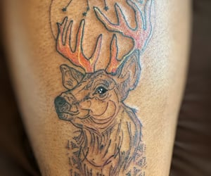 deer, ink, and leg image