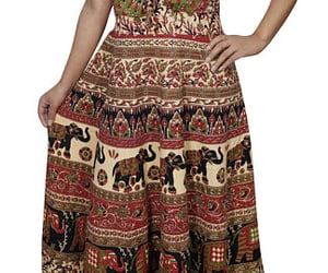 bohemian, boho style, and gypsy dress image