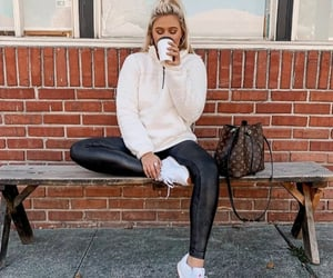 blonde girl, chilling, and clothes image