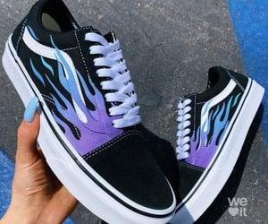 vans, sneakers, and blue image