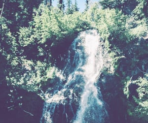 jungle, tropical, and waterfall image