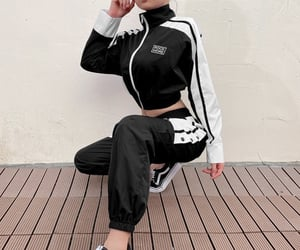 black, buttons, and fashion image