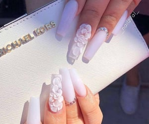 flowers, nails, and white image