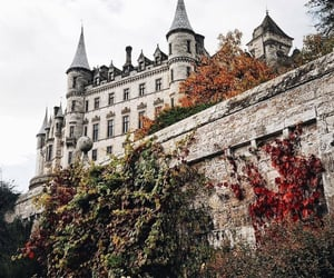 aesthetic, autumn, and castle image