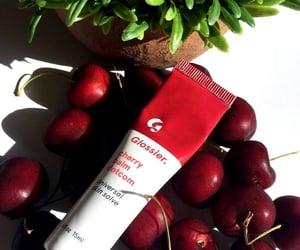 cherry, cosmetics, and lips image